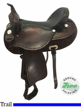 "16"" Used Dakota Wide Flex Trail Saddle 351 usdk3673 *Free Shipping*"