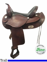"16"" Used Dakota Wide Trail Saddle 351 usdk3846 *Free Shipping*"