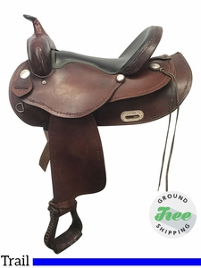 "SOLD 2017/10/10  16"" Used Dakota Wide Trail Saddle 351 usdk3846 *Free Shipping*"