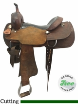 "16"" Used Double J Jeff Smith Wide Cutting Saddle usdj3791 *Free Shipping*"