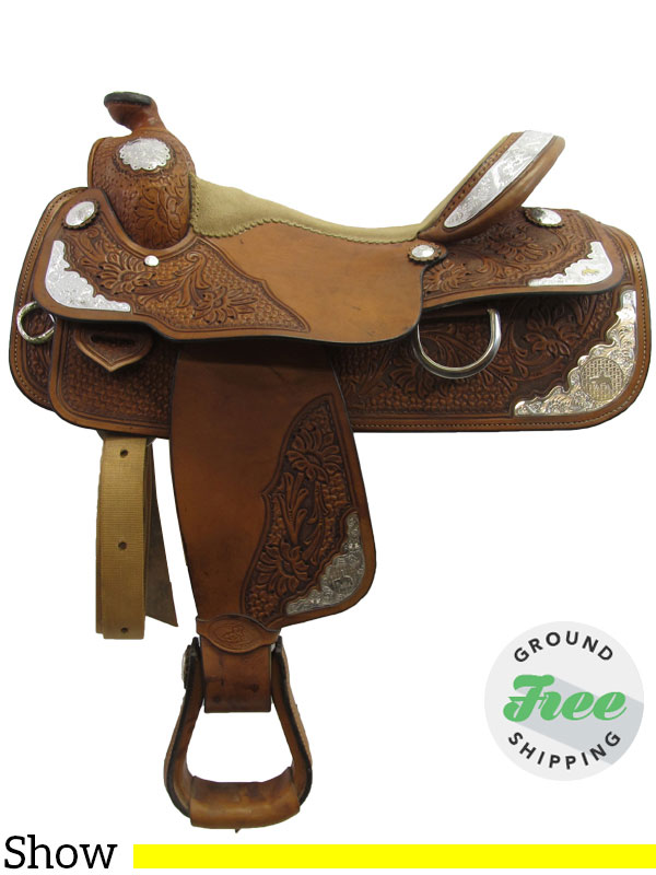 16 Quot Used Double J Equitation Show Saddle Wide Tree