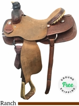 """16"""" Used Fort Worth Wide Ranch Saddle usfw3945 *Free Shipping*"""