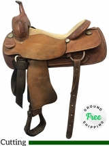 """16"""" Used Frontier Wide Cutting Saddle usfr4027 *Free Shipping*"""