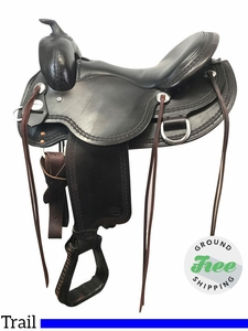 "16"" Used Reinsman Wide Flex Trail Saddle 4135 usrs3831 *Free Shipping*"