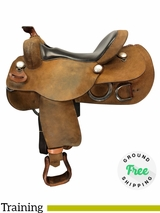"16"" Used Reinsman Wide Training Saddle usrs4117 *Free Shipping*"