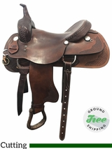 "16"" Used Rider's Choice Medium Cutting Saddle 312011 usrc3823 *Free Shipping*"