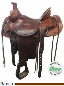 """SOLD 2017/08/15  16"""" Used Saddle King of Texas Medium Rancher 1236 ussk3877 *Free Shipping*"""