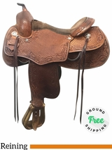 """16"""" Used Saddle Smith Todd Bergen Wide Reiner Saddle Armor Tex 'Pro Reiner' ussm4089 *Free Shipping*"""