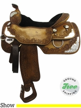 "16"" Used Silver Mesa Show Saddle, Wide Tree ussm3256 *Free Shipping*"