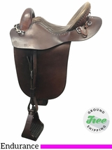 "16"" Used Steele Medium English Endurance Saddle usst3822 *Free Shipping*"