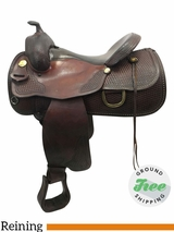 "16"" Used Tex Tan Eliminator Medium Reining Saddle ustt3765 *Free Shipping*"