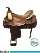 "16"" Used Tex Tan Medium Roping Saddle ustt3633 *Free Shipping*"