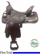 "16"" Used Tex Tan Medium Flex Pleasure Trail Saddle ustt3809 *Free Shipping*"