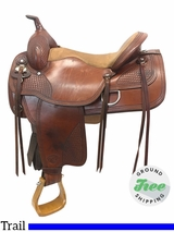 "16"" Used Tex Tan Seminole Equi Tex Flex Medium Trail Saddle ustt3792 *Free Shipping*"