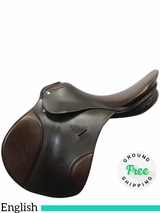 "17.5"" Used Passier Comet FS Medium Wide English Saddle usha3966 *Free Shipping*"