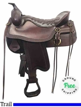 """17.5"""" Used Tucker Cheyenne Frontier Wide Trail Saddle 167 ustk3915 *Free Shipping*"""