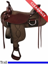 "17"" Big Horn Rich Chestnut Lady Light Weight Flex Trail Saddle 323 CLEARANCE"