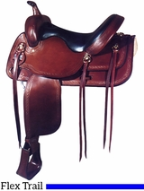 "17"" Big Horn Extra Wide Flex Trail Saddle 1696"