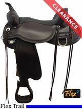 """SOLD 2017/06/23  15"""" Circle Y Pioneer Flex2 Trail Saddle 1665 CLEARANCE"""