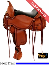 """SOLD 2017/08/15  16"""" Circle Y Pioneer X-Wide Flex2 Trail Saddle 1665 CLEARANCE"""