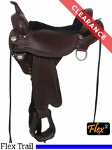 "15"" Circle Y Sheridan X-Wide Flex2 Trail Saddle 1572 CLEARANCE"