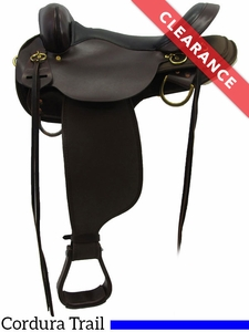 """17"""" High Horse by Circle Y Highbank Cordura Trail Saddle 6916 CLEARANCE"""