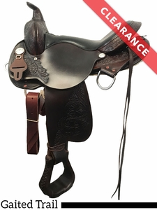 "SOLD 2017/08/29  16"" High Horse by Circle Y Round Rock Gaited Trail Saddle 6870 CLEARANCE"