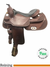 "17"" Used Billy Cook Wide Reiner Saddle 9602 usbi4073 *Free Shipping*"