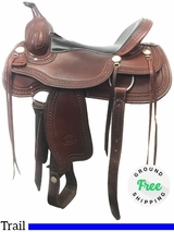 "17"" Used Billy Cook Wide Trail Saddle 1777 usbi3996 *Free Shipping*"