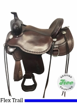 "17"" Used Circle Y Alpine Wide Flex2 Trail Saddle 2377 uscy3870 *Free Shipping*"