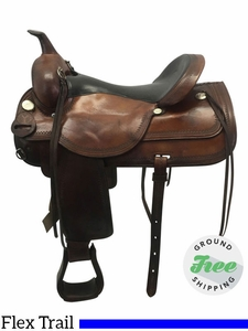 "SOLD 2017/08/03  17"" Used Circle Y Flex Lite Medium Trail Saddle 1551 uscy3613 *Free Shipping*"