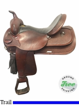 "17"" Used Circle Y Medium Park and Trail Saddle 3623 uscy3867 *Free Shipping*"
