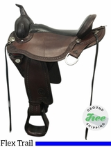 "17"" Used Circle Y Sheridan Medium Flex2 Trail Saddle 1572 uscy3826 *Free Shipping*"