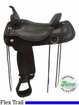 "17"" Used Circle Y Topeka Medium Flex2 Trail Saddle 1651 uscy3705 *Free Shipping*"