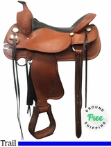 "17"" Used Crates Wide Trail Saddle 2170 Supreme Trail uscr4023 *Free Shipping*"