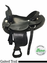 "17"" Used Dakota Walking Horse Wide Gaited Saddle 750 usdk3646 *Free Shipping*"