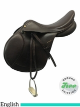 "17"" Used Pessoa Blythe Tait English Show Saddle usen3585 *Free Shipping*"