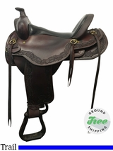 "17"" Used Reinsman Wide Trail Saddle usrs3821 *Free Shipping*"