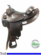 """SOLD 2017/07/11 17"""" Used Simco Supreme Draft Trail Saddle 72860 ussi3825 *Free Shipping*"""