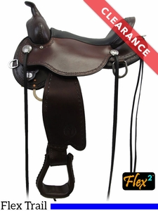 "SOLD 2017/07/19  16"" Circle Y Salt River Flex2 Trail Saddle 1667 CLEARANCE"