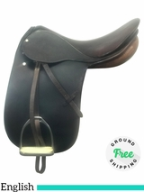 "18"" Used Stubben English Dressage Saddle usst4052 *Free Shipping*"