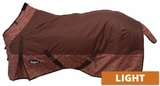 600D Ripstop Poly Waterproof Horse Sheet in Tooled Leather