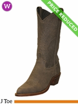 8.5B Women's Abilene Distressed Cowhide Western Boots 9059 CLEARANCE