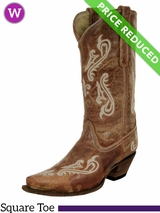 6.5B Women's Corral Honey Cortez Cleff Embroidery Boots R1974 CLEARANCE