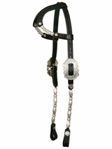 Arabian Double Ear Silver Show Headstall by Circle Y 0288-7100A