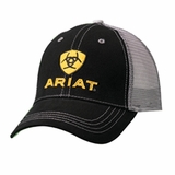 Ariat Black/Yellow Logo Mesh Baseball Cap 1581001