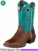 Kid's Ariat Brown Oiled Rowdy Crossfire Boots 10005989