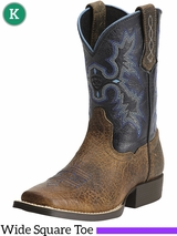 Kid's Ariat Earth Black Tombstone Boots 10012794