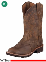 Ariat Kids Heritage Crepe Boots W Toe Distressed Brown 10001957