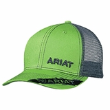 Ariat Lime Green Mesh Logo Baseball Cap 1505523